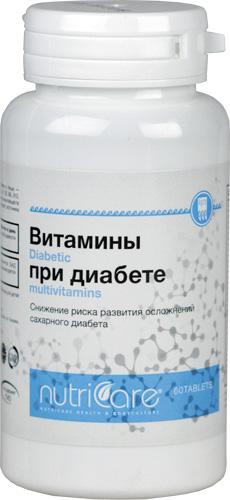 Витамины при диабете, таблетки, 60 шт