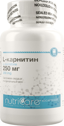 L-Карнитин 250 мг, капсулы 60 шт