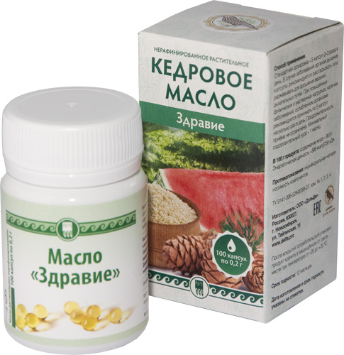 Масло «Здравие», капсулы, 100 шт