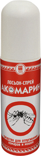 Лосьон-спрей от комаров и мошек «Акомарин», 150 мл