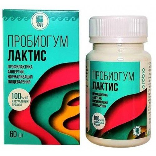 Пробиогум Лактис, 60 шт