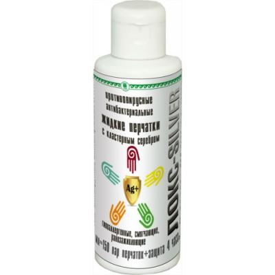 Гель противовирусный, антибактериальный «Жидкие перчатки» ЛОКС-SILVER, 100 мл
