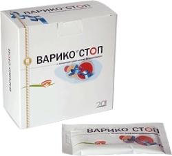 Концентрат сухой напитка безалкогольного «Варико-cтоп», 20 пакетов по 10 г