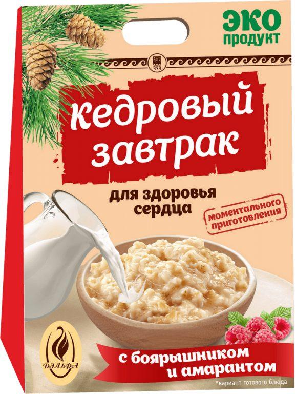 Завтрак кедровый для здоровья сердца с боярышником и амарантом, 40 г