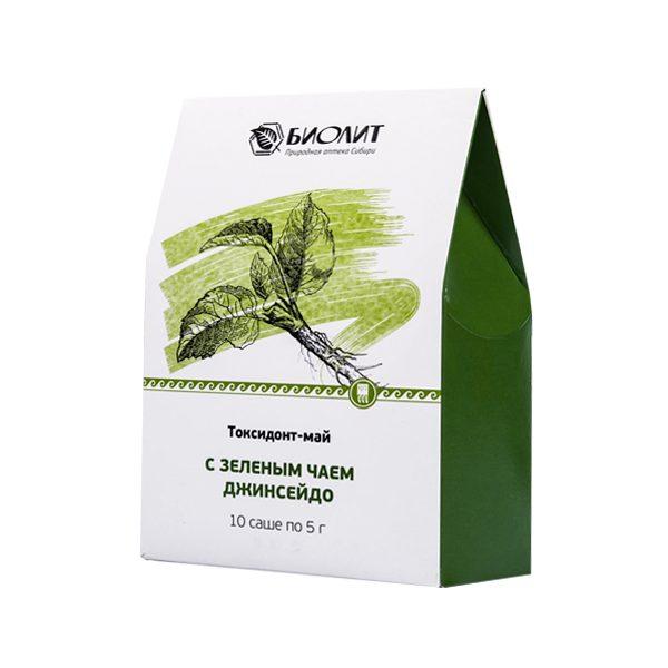 Токсидонт-май с зеленым чаем Джинсейдо, 10 саше по 5 г
